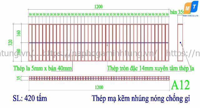Tấm sàn grating Minh Tùng