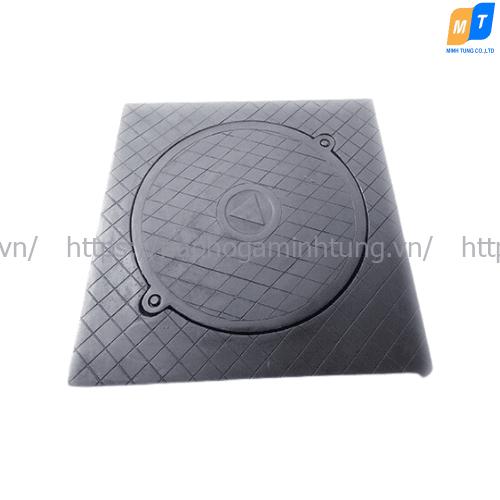 Nắp hố ga composite khung vuông dương, nắp tròn